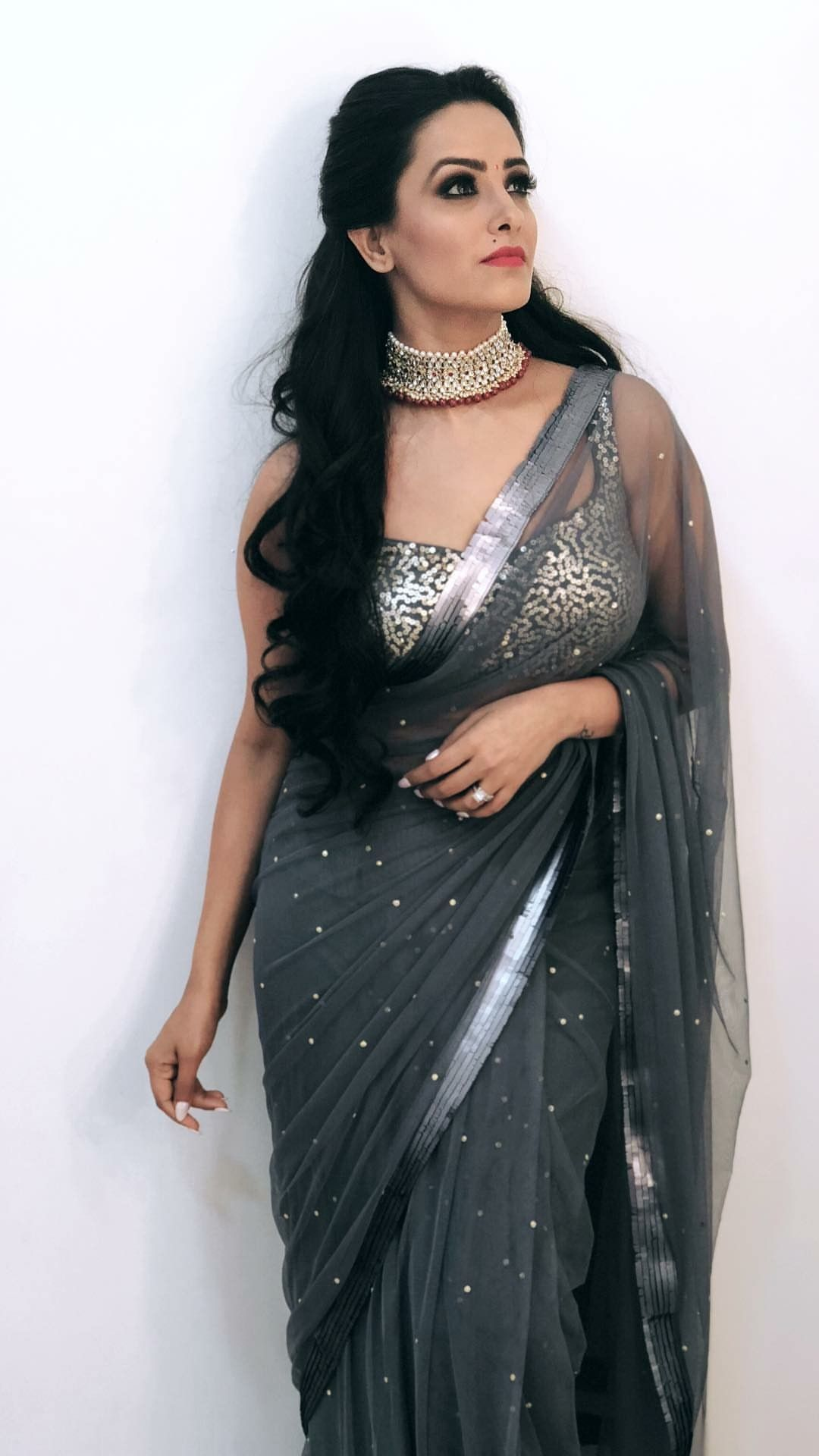 f3788e63bf ANITA HASSANANDANI | TV Celebs in 2019 | Saree, Saree look, Saree models