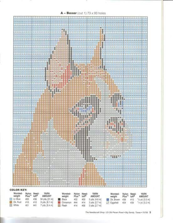 Plastic canvas Dog Portrait in long stitch can also be done in cross ...
