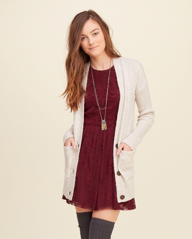 Girls Sweaters | Clearance | Hollister Co. Boyfriend CardiganA ...