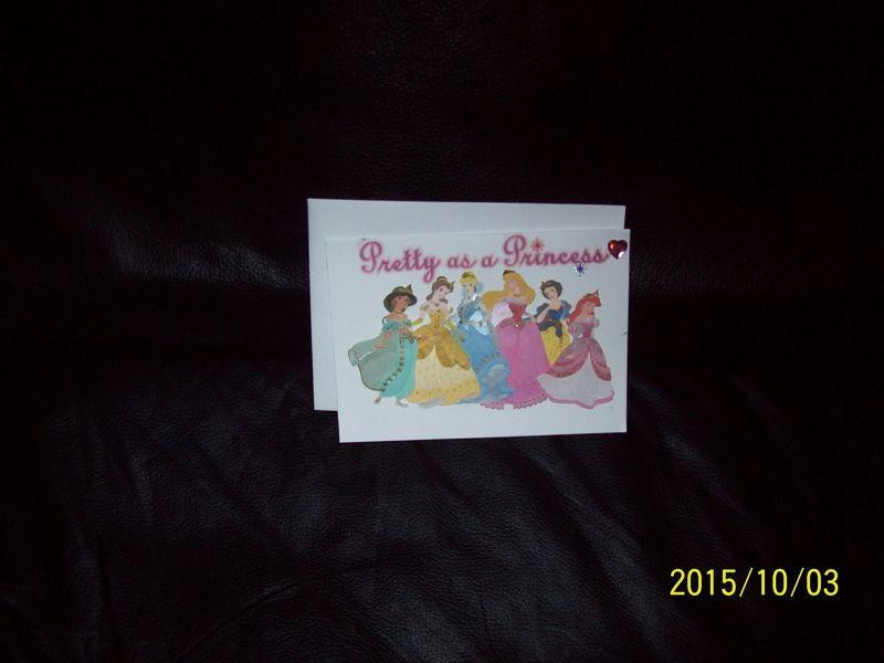 pretty as a princess birthday card handmade  handmade