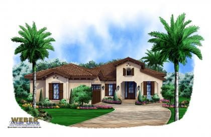 Spanish House Plan 1 Story Coastal Spanish Style Home Floor Plan Spanish Style Homes Spanish House Mediterranean House Plans