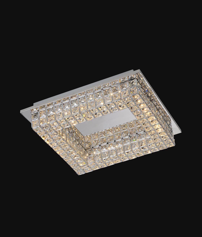 Plaf N Cuadrado Elegante Crystal Led Plafones En La Casa De La  ~ Plafones Fluorescentes Para Cocina