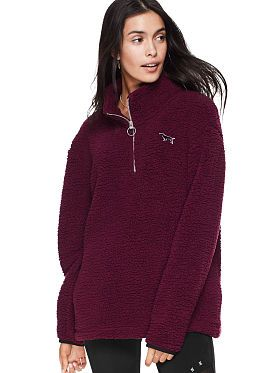 7a04ac3d1af Sherpa Boyfriend Quarter-Zip | Victoria Secret in 2019 | Pink ...