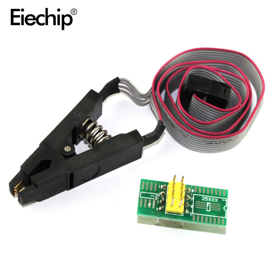 5pcs Update Version Soic8 Sop8 Test Clip For Eeprom 93cxx 25cxx Wiring Testing Electrical Equipment Circuits 24cxx In Circuit Programming 2 Adapters