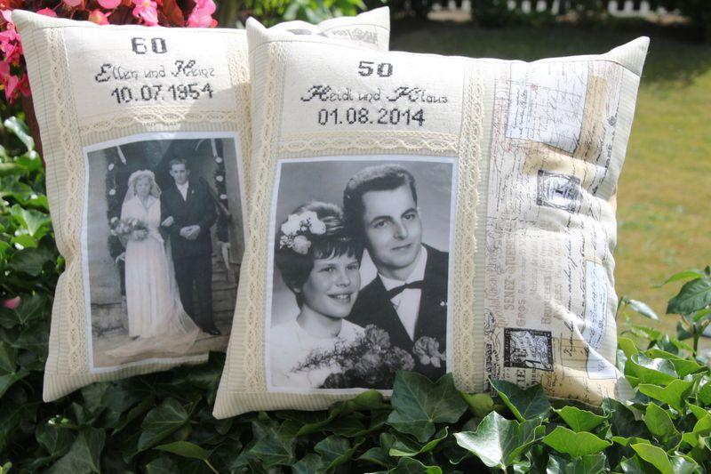 Photo Kissen Zur Silber Gold Diamant Hochzeit Diamantene Hochzeit Geschenke Zur Goldenen Hochzeit Silberne Hochzeit