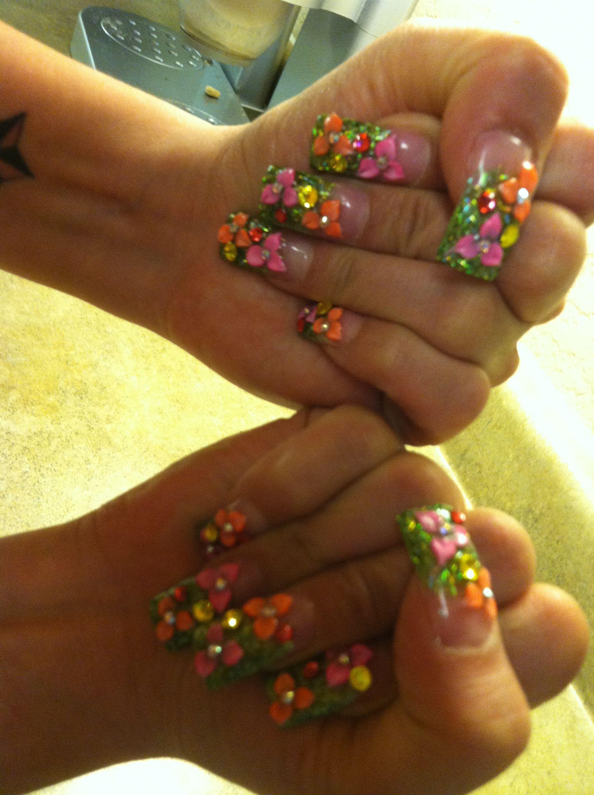 Summer 3d Nails Nail Designs 3d Nails Nails