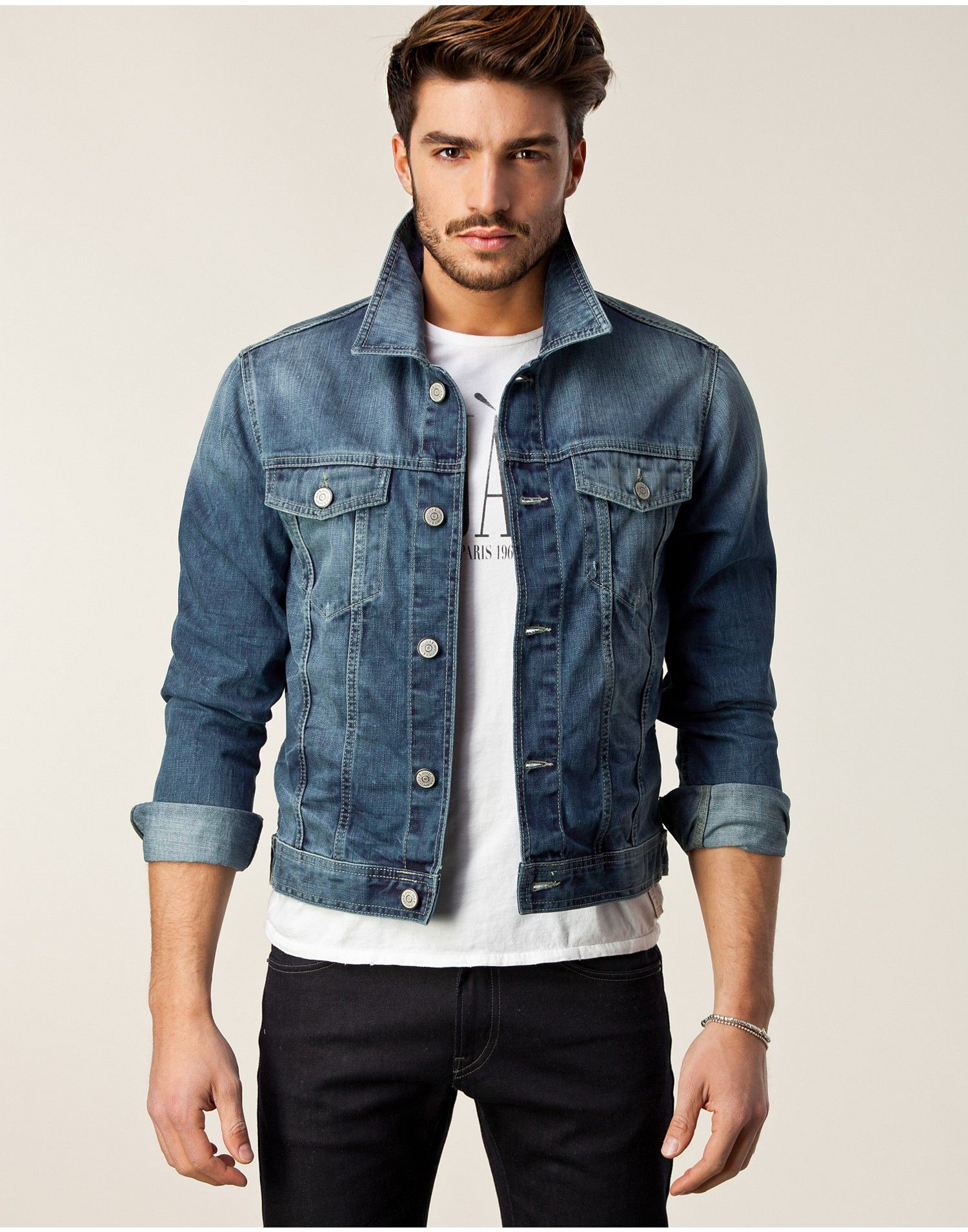 denim jacket outfit ideas men - Google Search | Denim Jacket Ideas ...