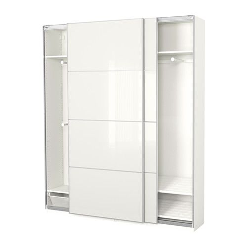 pax kleiderschrank wei f rvik wei es glas haus ideen pinterest ikea kleiderschrank. Black Bedroom Furniture Sets. Home Design Ideas