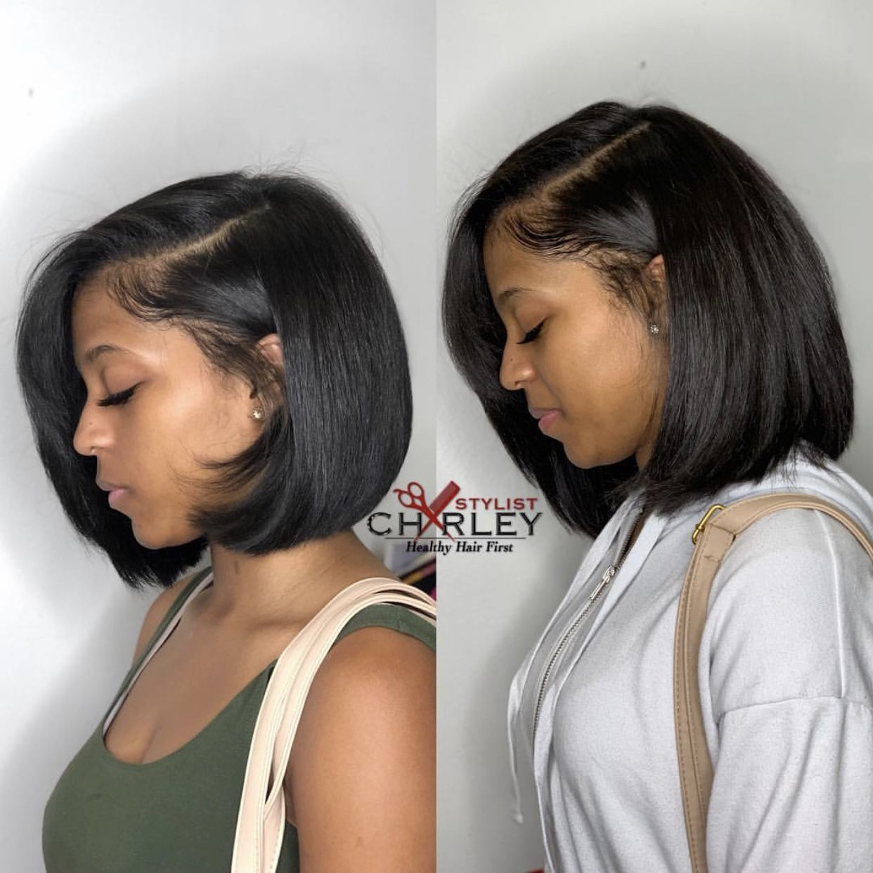 Pin by Imaryah on hair  Silk press natural hair, Natural hair bob