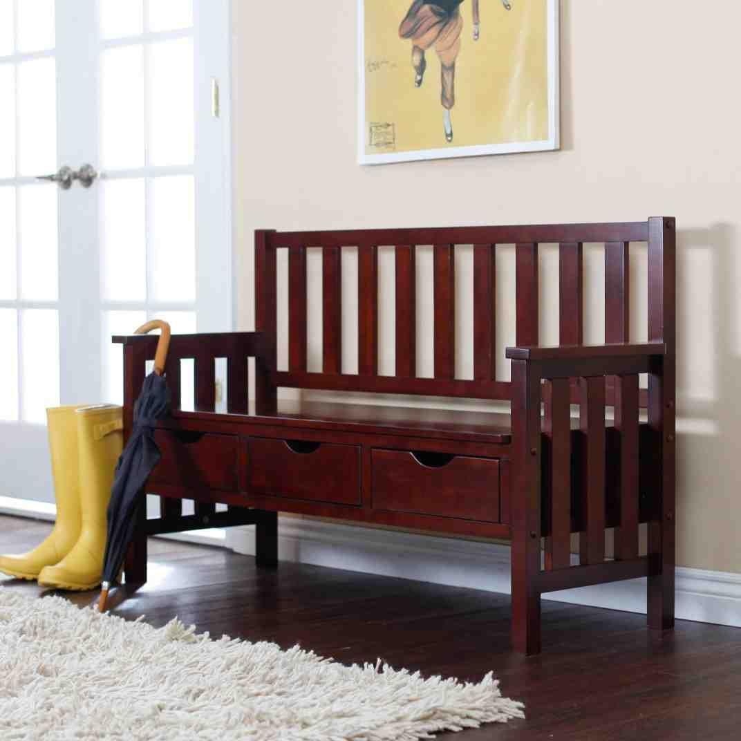Tremendous Dark Wood Storage Bench Best Wood Storage Bench Wood Machost Co Dining Chair Design Ideas Machostcouk