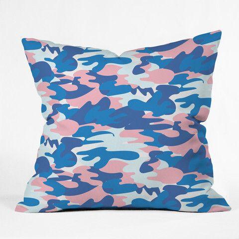 Image From Http Cdn Shopify Com S Files 1 0068 2302 Products Zoe Wodarz Peachy Camo Throw Pillow Throw Pillows Floral Throw Pillows Throw Pillow Collections