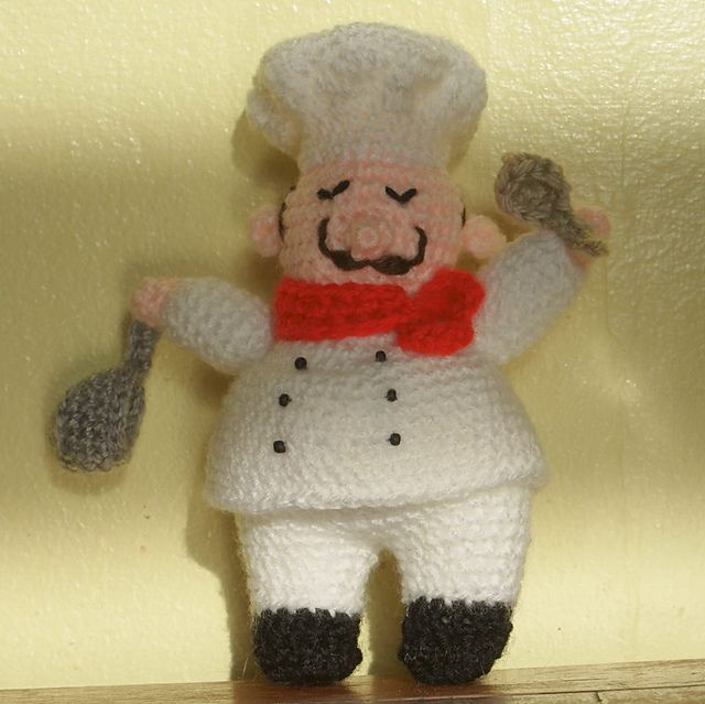 Ravelry: Henri the Happy Chef pattern by Annette Morrison | Hækling ...