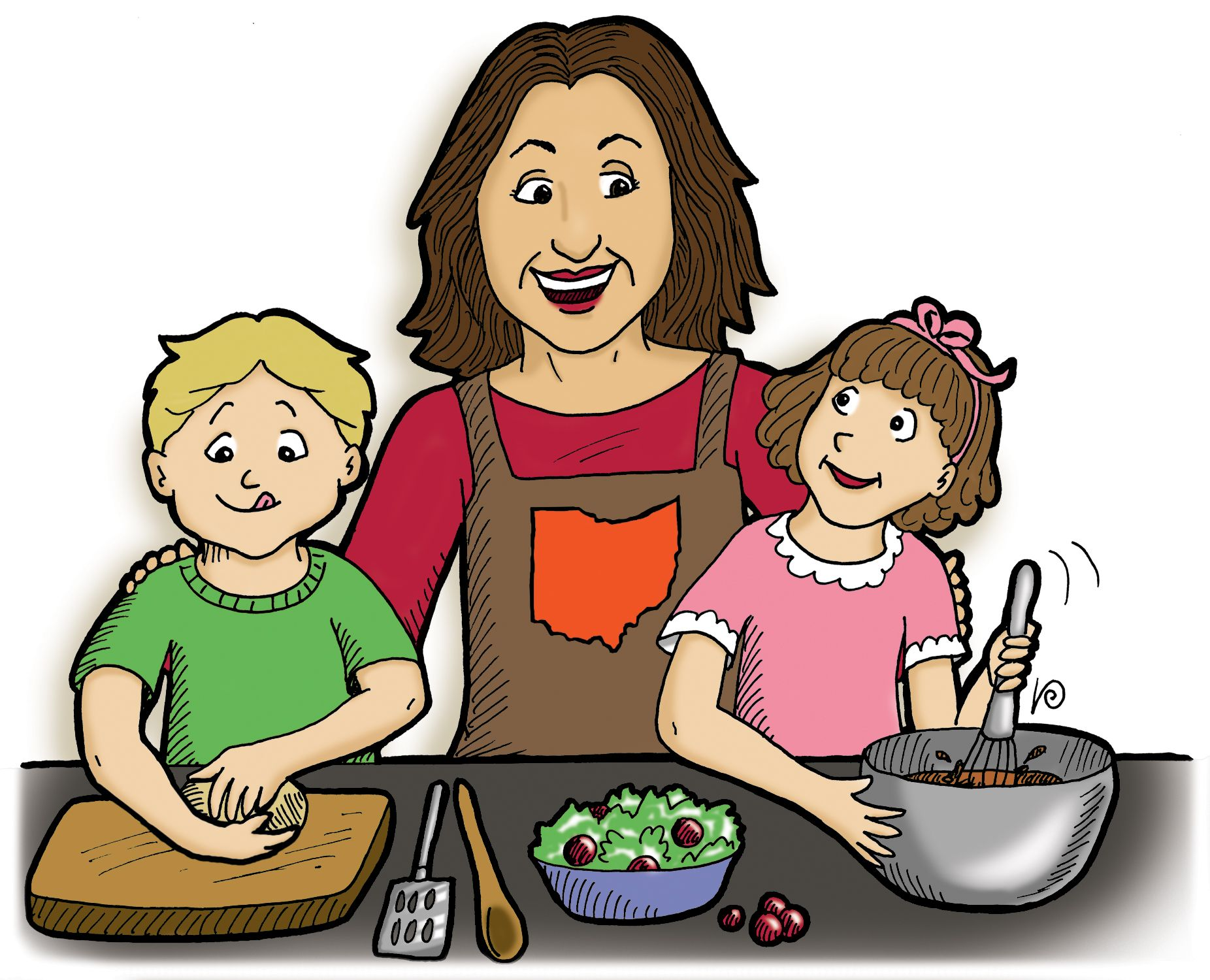 Selection of cartoons on cooking kitchens food and eating - Kids Cooking Cartoon Clip Art Tip Only Cook With Wine That You Have