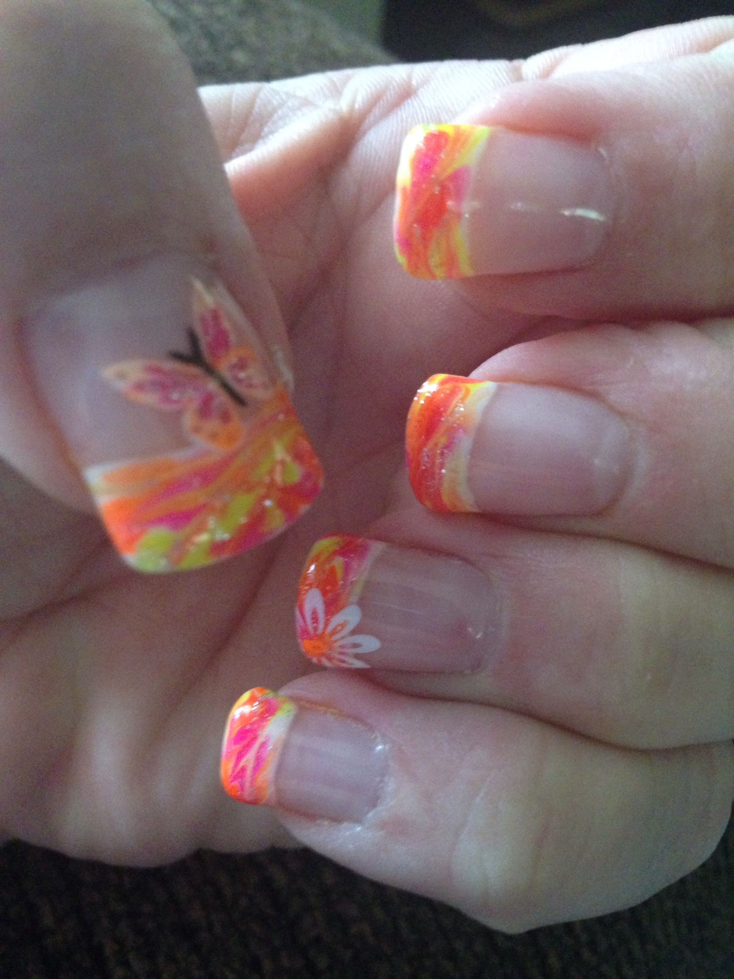 Yellow and orange with butterfly! Represents Summer Time in full force!