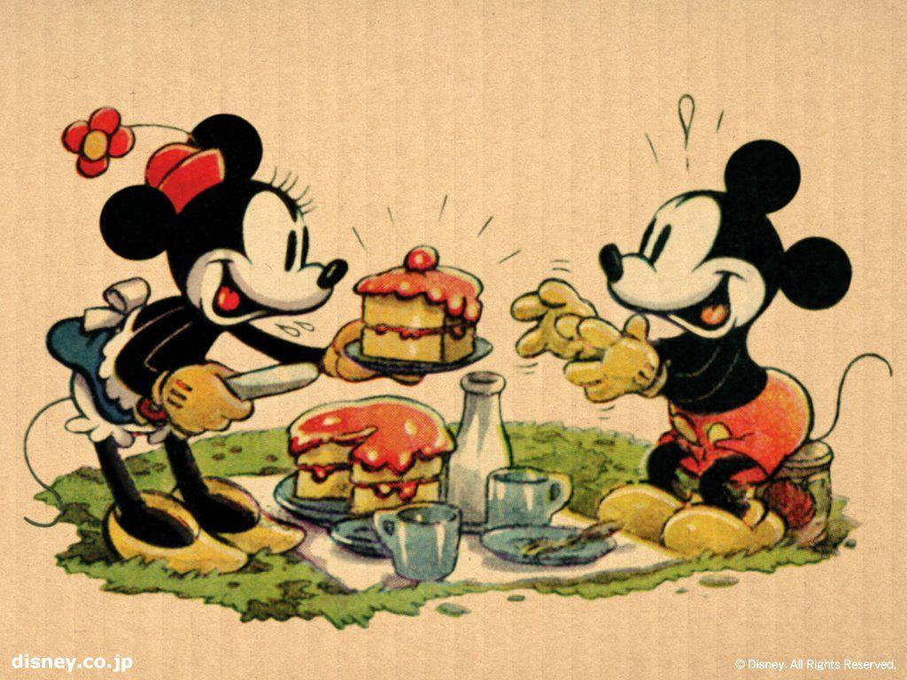 Papel de Parede Gratuito de Desenhos : Mickey e Minnie
