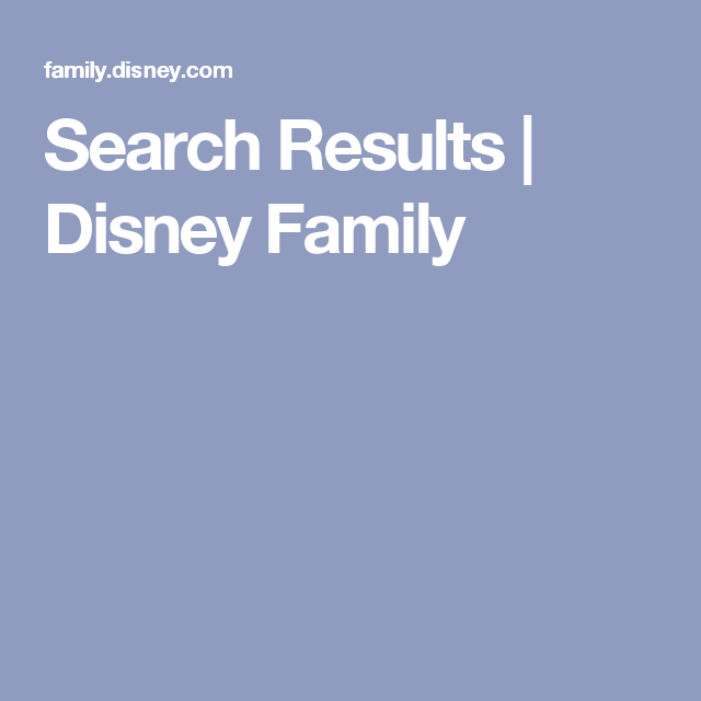 Search Results | Disney Family