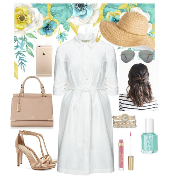 summerwhite by angie2015gb on Polyvore featuring polyvore fashion style Isolde Roth Tory Burch maurices Ray-Ban David & Young Essie