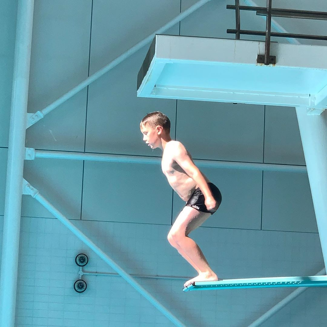 Back in his element! #diving #fitness #water #fun