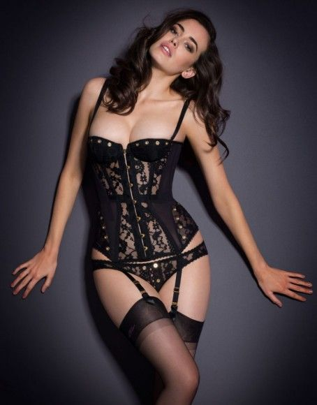 f712f407ee Most of Agent Provocateur s corsets only offer mild shaping and use plastic  boning.  Stevie  Corset by Agent Provocateur