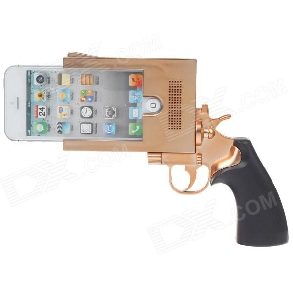 Pistol Style Protective Plastic Case for iPhone 5 - Coppery ...