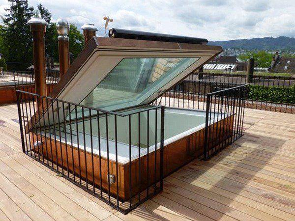 Roof Garden Deck Ideas Glazed Hatch Safety Railings