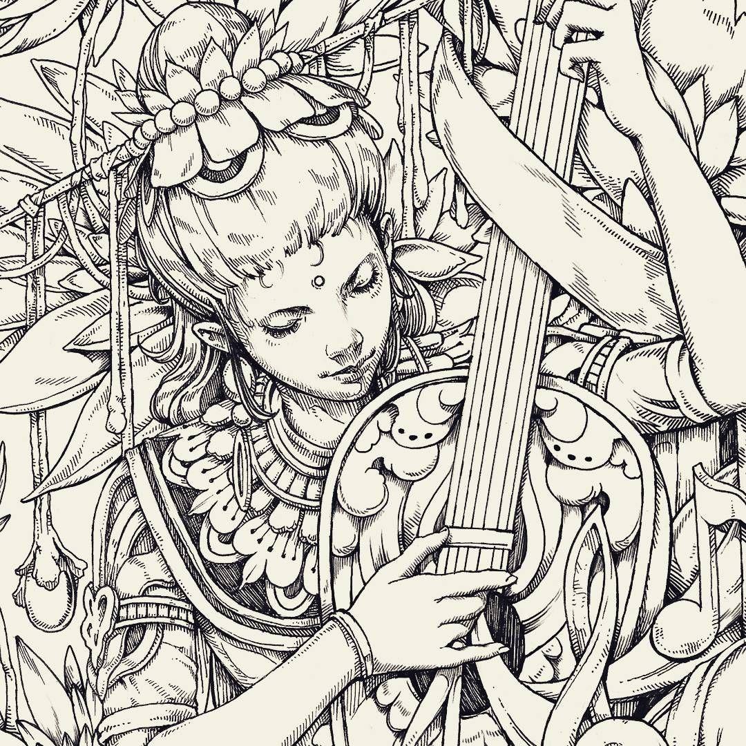 Nickfilbert Ink Pen Sketch Illustration Drawing
