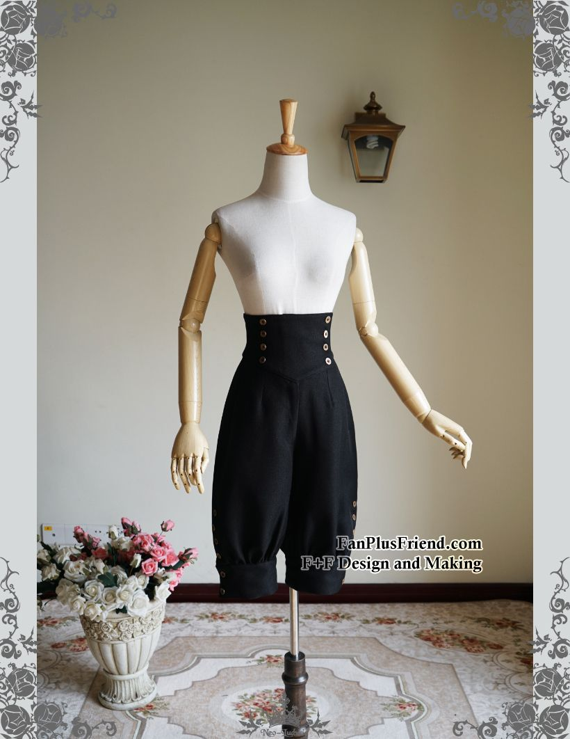 1505098cba fanplusfriend - Beyond the End of Time, Gothic Steampunk High Waist Short  Riding…