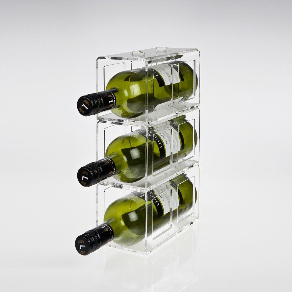 acrylic perspex wine rack stacking