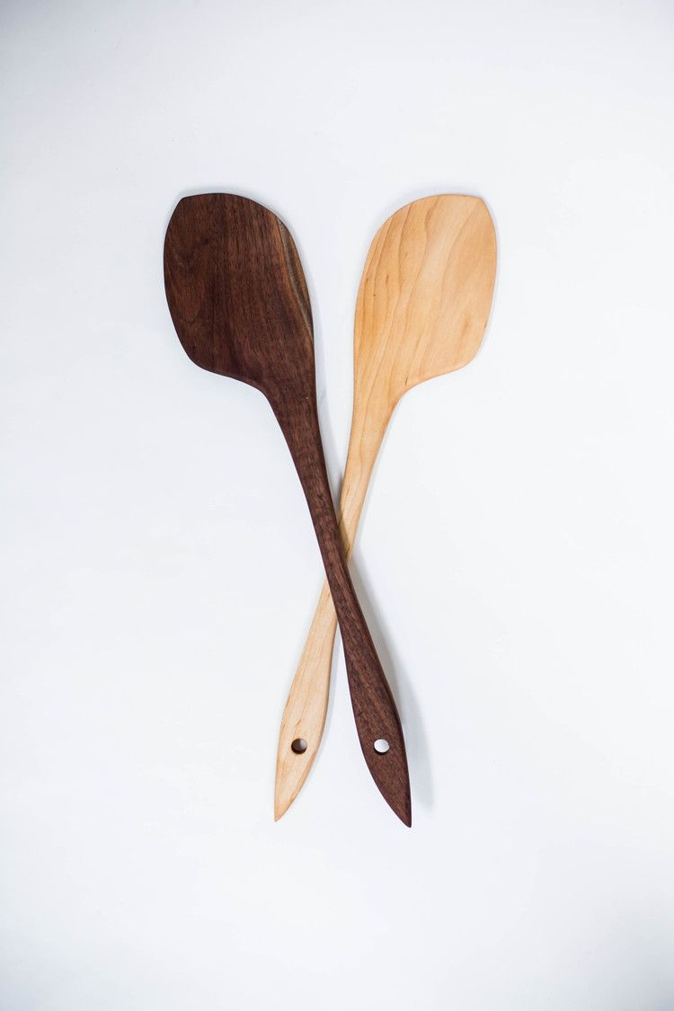 The daily spatula wooden spoon sweet gum and woods