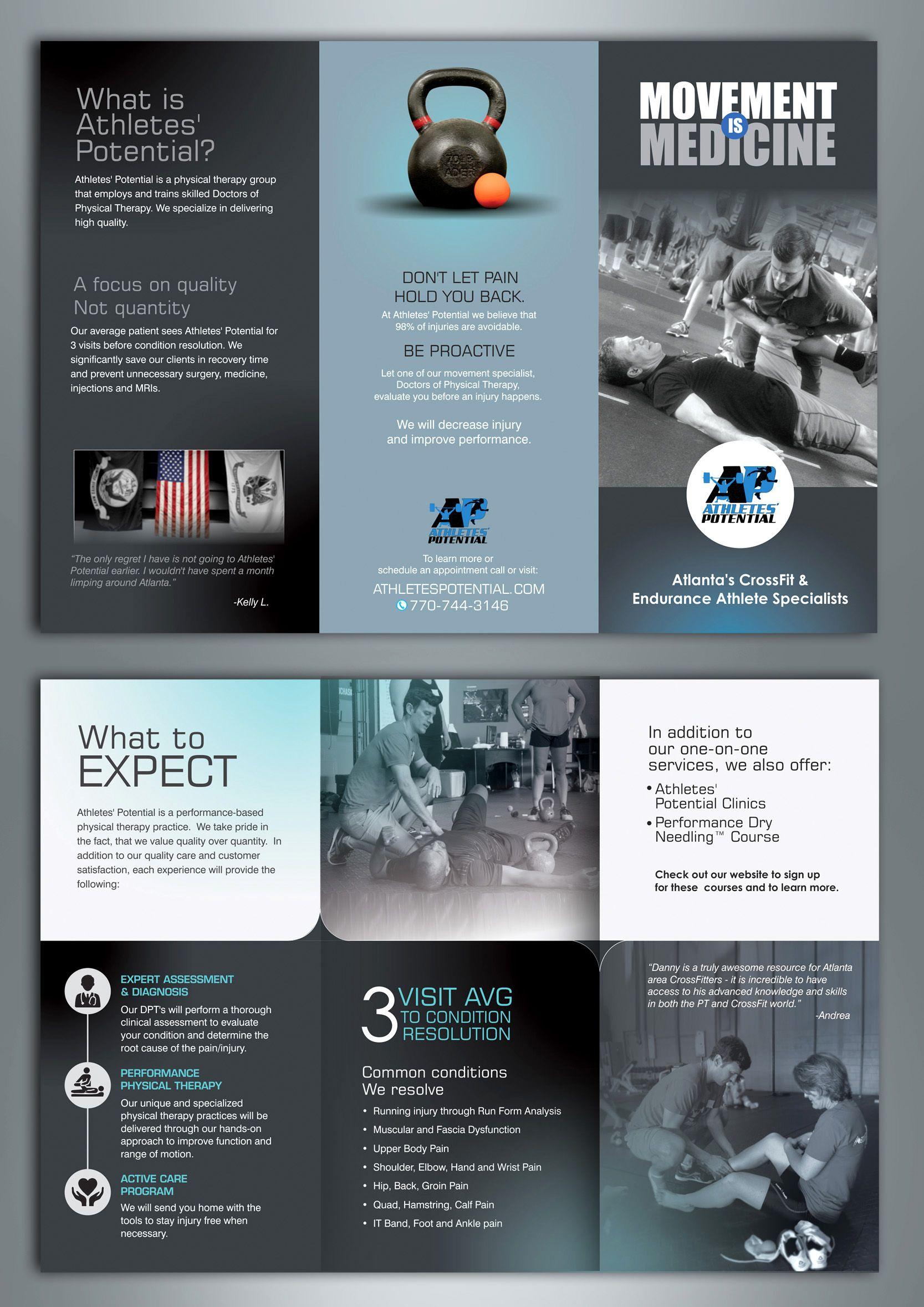Brochure Design By Amritadesigner 17 99designs Brochure Design Brochure Physical Therapy