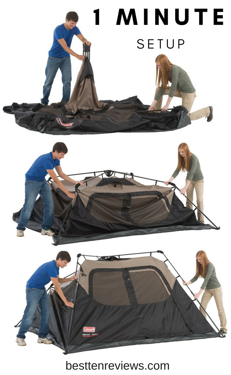 Best Family Cabin Tent 1-minute setup or take down #c&ing #hiking  sc 1 st  Pinterest & Top 10 Best Family Cabin Tent for Camping Outdoors I Best Ten ...