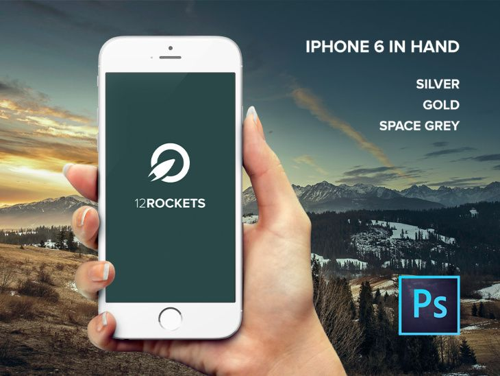 Download Iphone 6 Hand Template Free Psd File