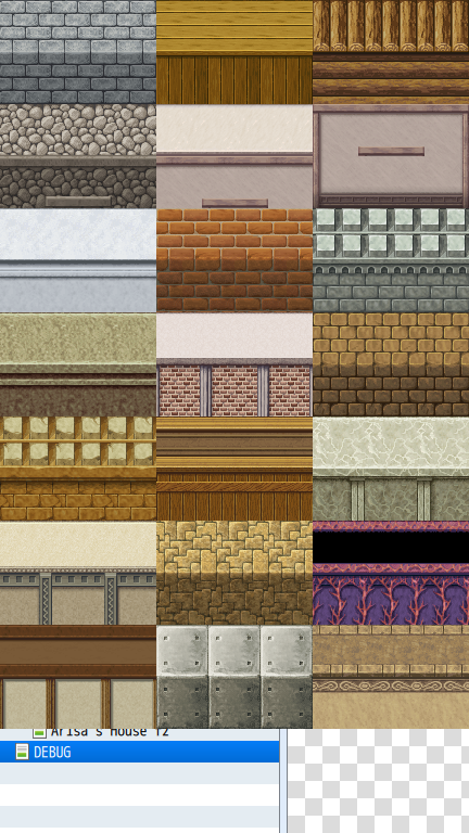 RPG Maker MV Interior Door Wall Tileset for use with Interior