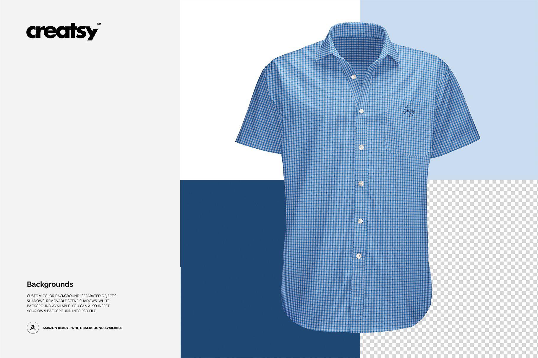 Short Sleeve Dress Shirt Mockup Short Sleeve Dress Shirt Shirt