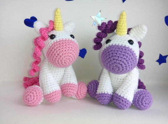 Crochet Unicorn , Knitted Unicorn , Plush Unicorn , Crocheted Unicorn, little Unicorns toy , Unicorn baby shower , Unicorn doll #littleunicorn