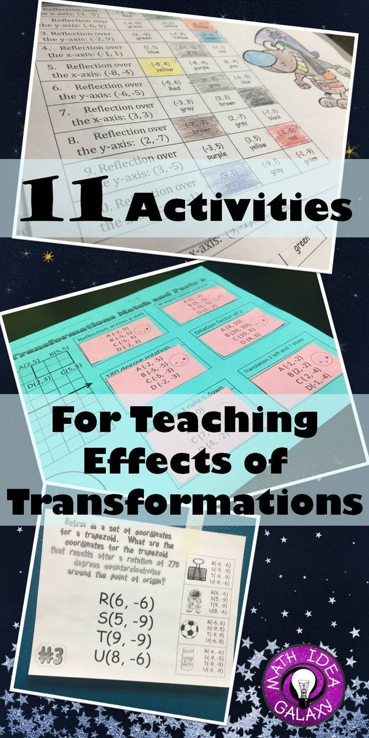 11 Activities for Teaching Effects of Transformations | Pinterest ...