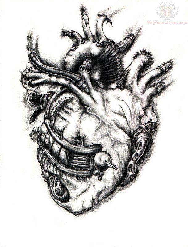 Heart Mechanical Tattoo Design Biomechanical Tattoo Mechanic Tattoo Heart Tattoo