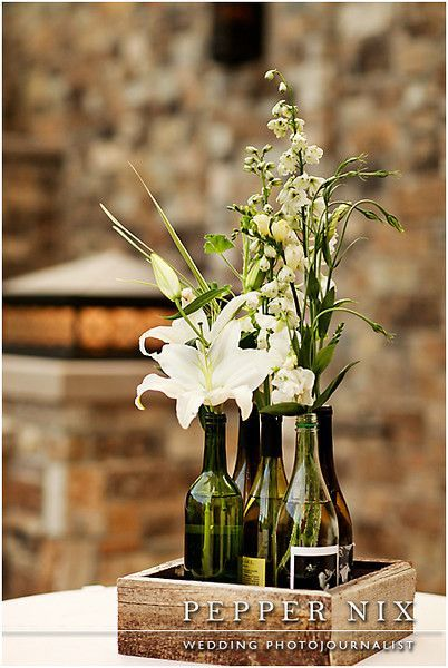 wine bottle centerpieces wedding Google Search Winkler