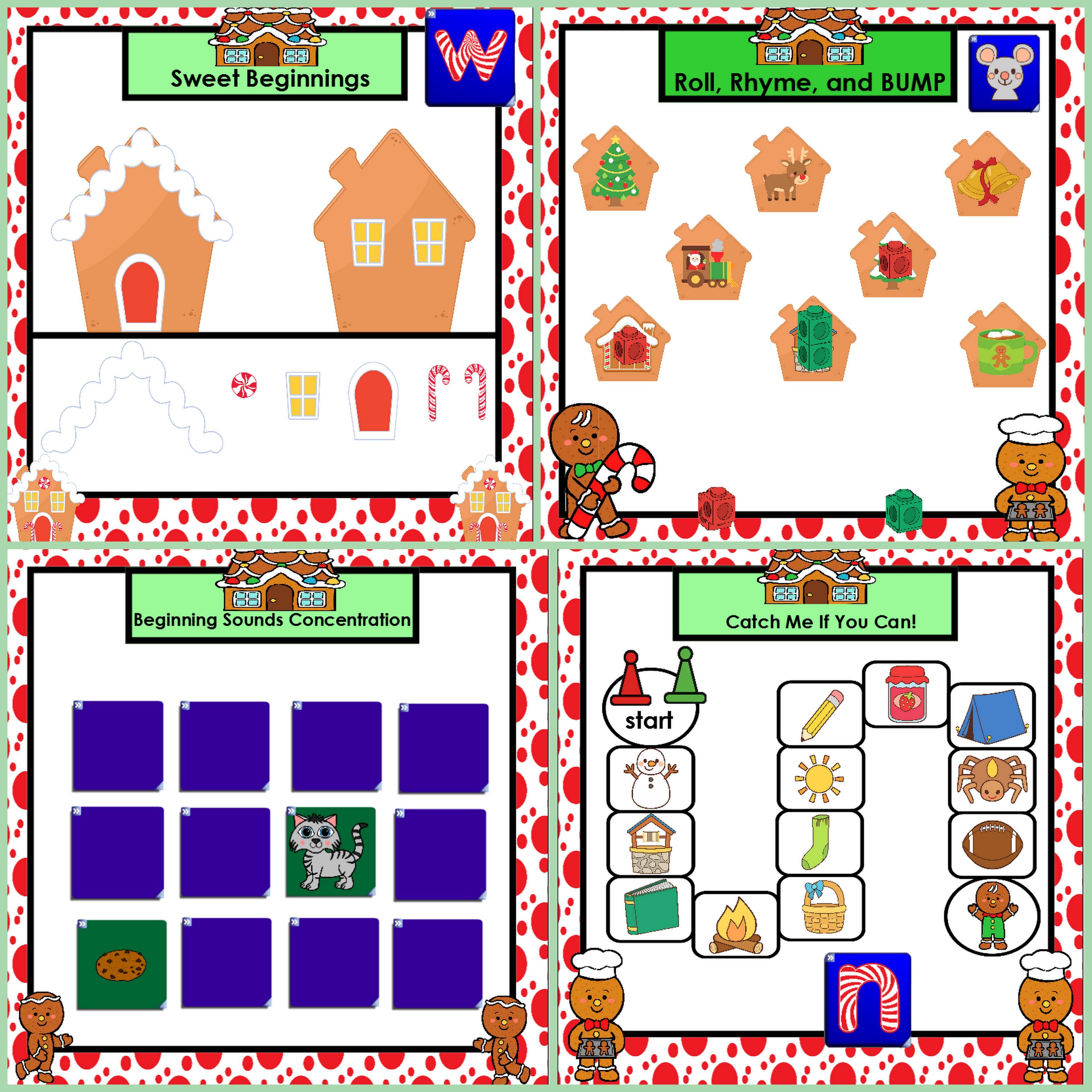 Smartboard Phonics Games Gingerbread Edition