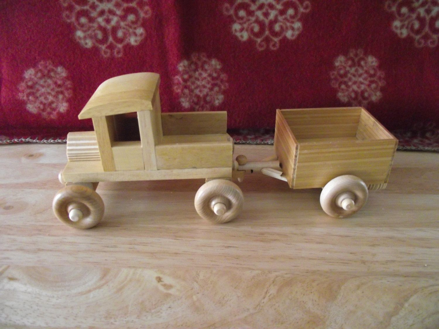 wooden toy truck withtrailer. $9.95, via etsy. | being an
