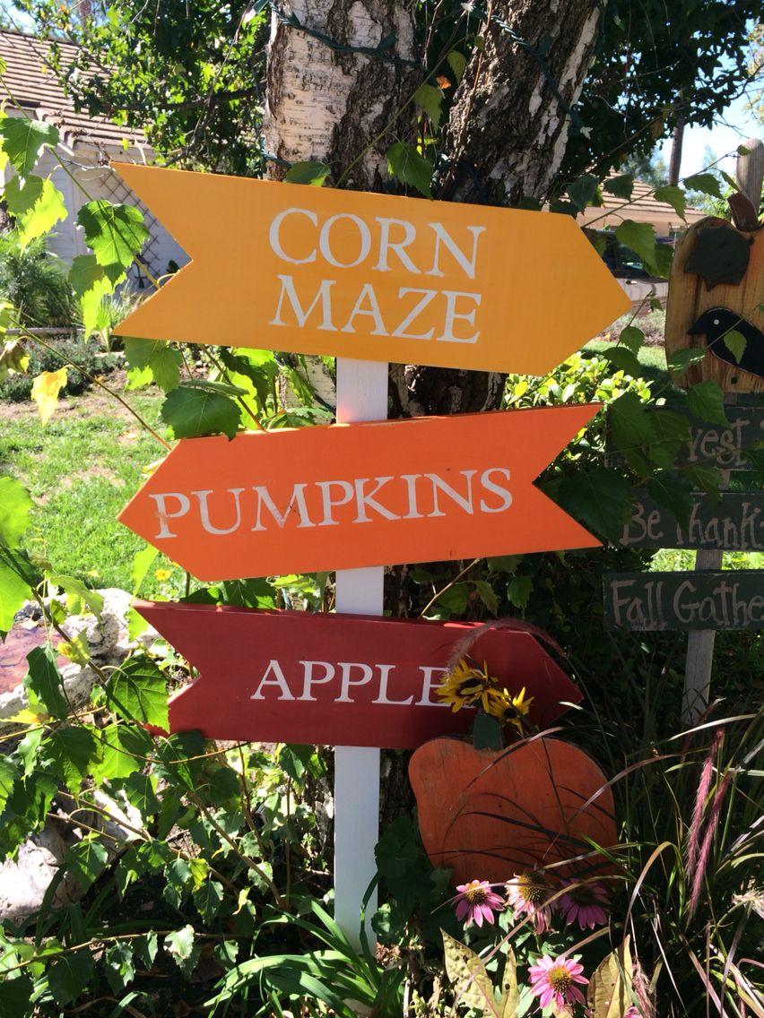 Fall Yard Sign Yard Signs Corn Maze Fall