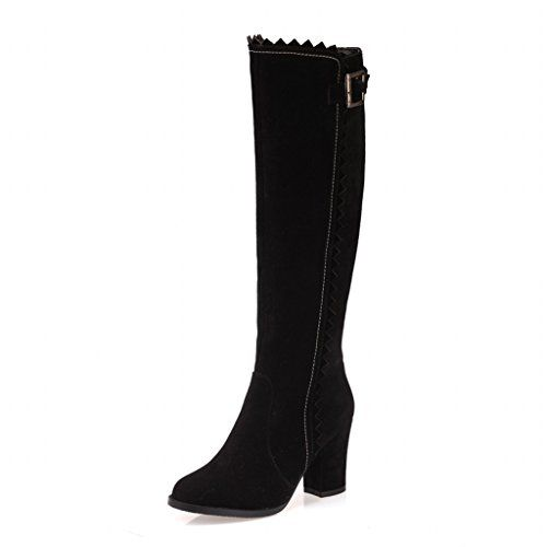 ERQIYU Women Boots New Fashion Ladies Sexy Knee High Boots Zipper Long Boots Thick High Heels shoes ** Click image for more details.