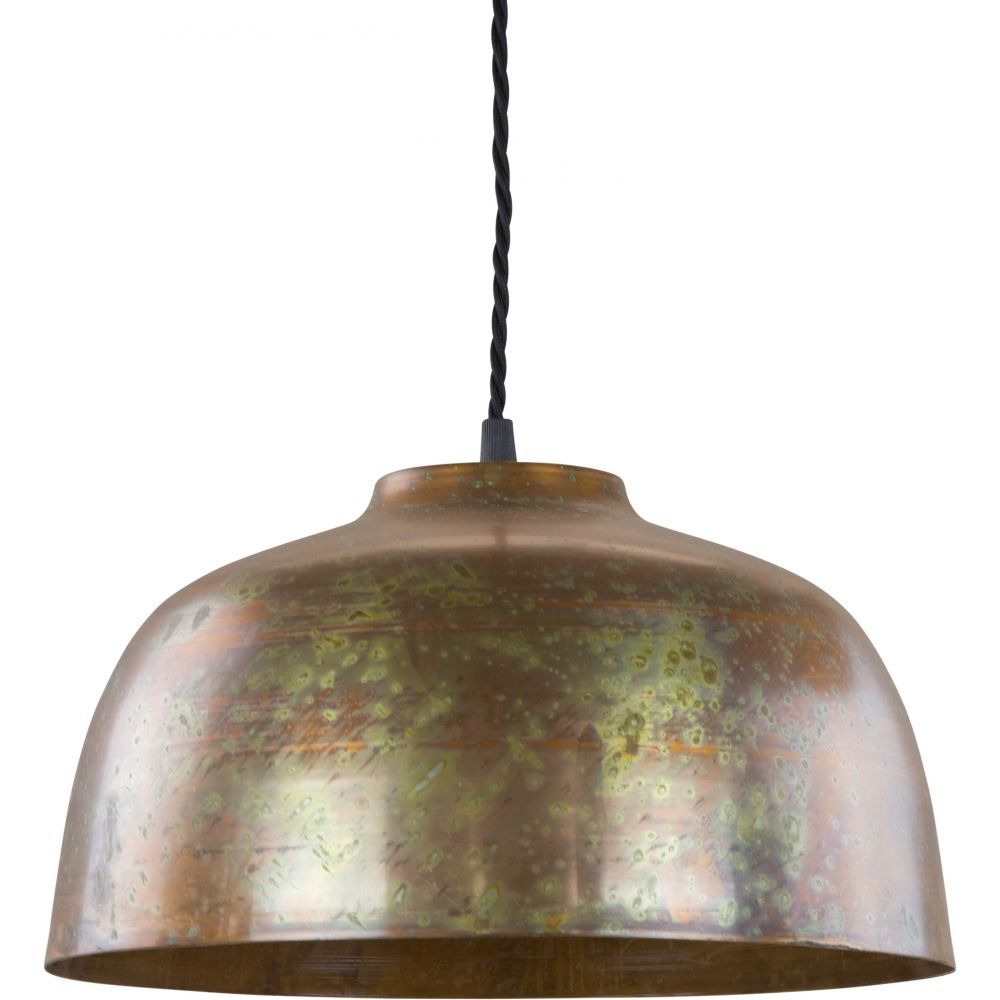 Inspired by antique Italian lights, this range of hand crafted copper and brass lights are perfect as a statement light in any industrial or contemporary styled home.The Genoa Pendant Light comes in a scrambled copper finish, a 1 meter length braided cloth cord and a lampholder to suit E27 globes.*To be installed by a qualified electrician*