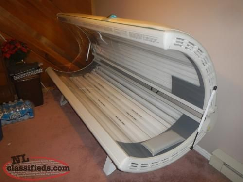 Wolf tanning bed girl