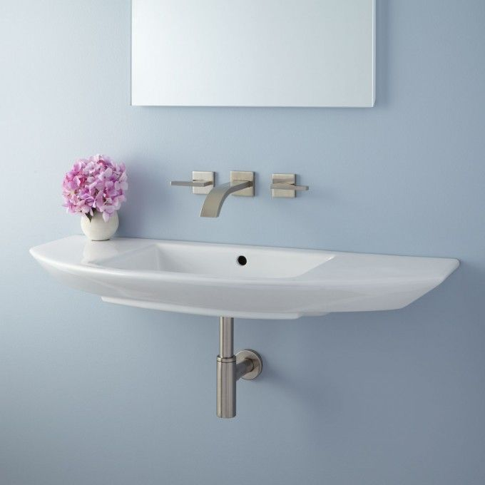Issa Wall Mount Bathroom Sink With Images Small Bathroom Sinks