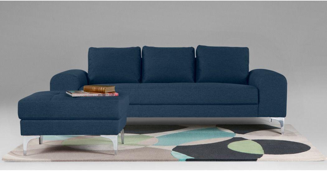 Vittorio Canape 3 Places Bleu Cobalt Canape 3 Places Design Contemporain Et Canape