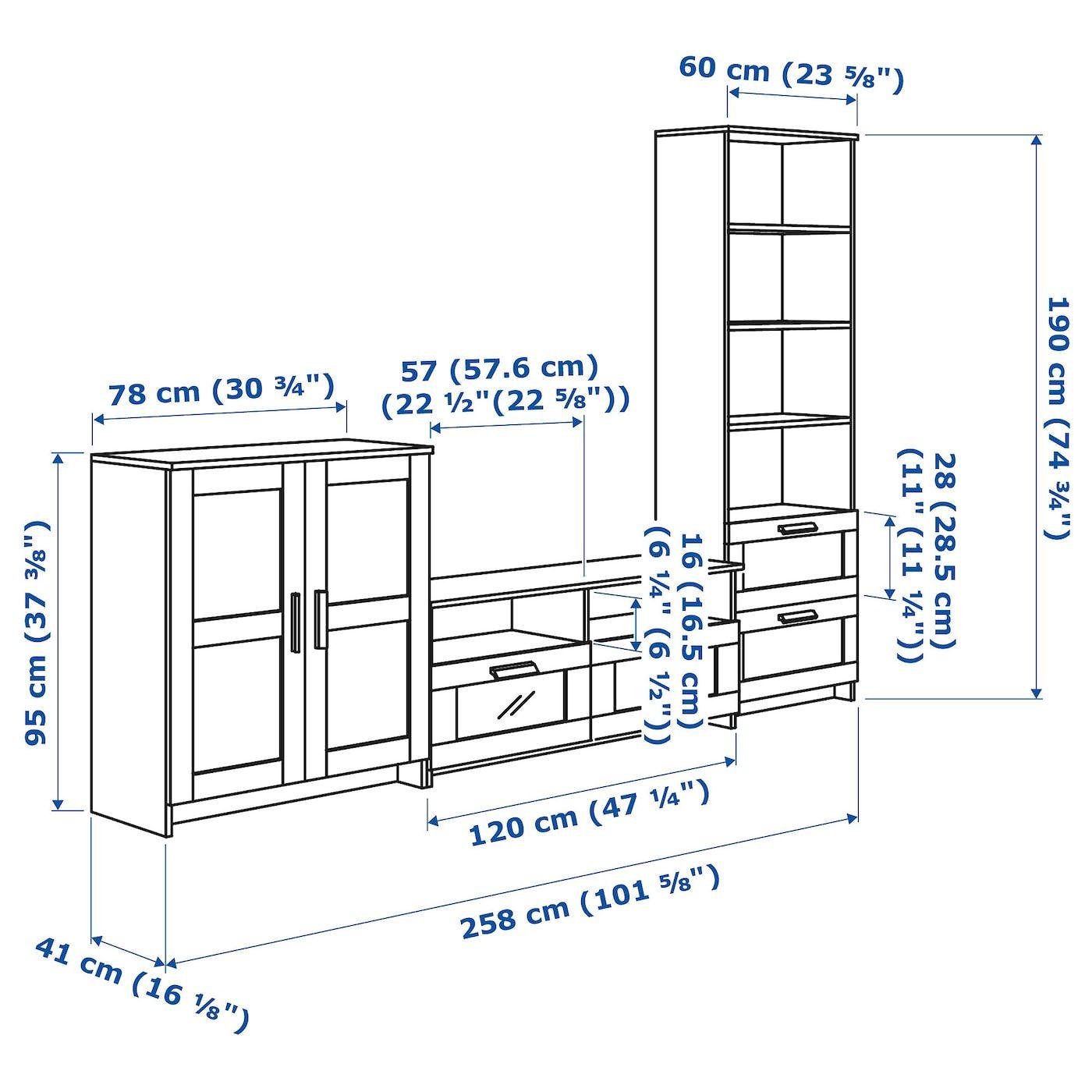 IKEA – BRIMNES TV storage combination Black
