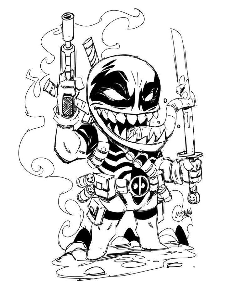 Venom Venompool Deadpool Deadpool Artwork Comic Art Fans Art