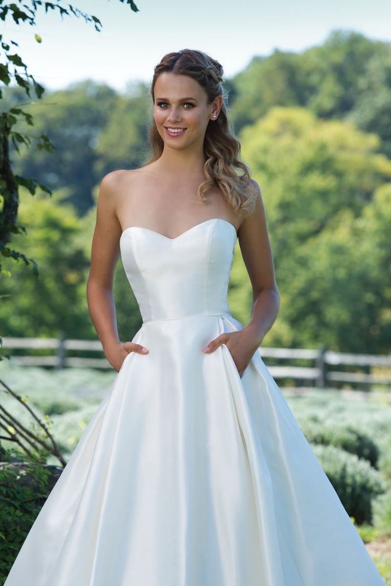 eb32492dfc Sincerity Bridal - Style 3997  Full Mikado Ball Gown with Sweetheart  Neckline and Keyhole Back Bridal Gown Available at The Wedding Studio  Greenwood ...