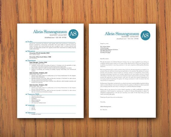 Modern Microsoft Word Resume 1 and 2 pages and by INKPOWER on Etsy - resume 1 or 2 pages
